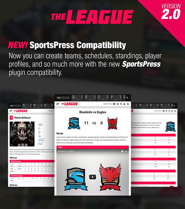 The League - Sports News & Magazine WordPress Theme - 1