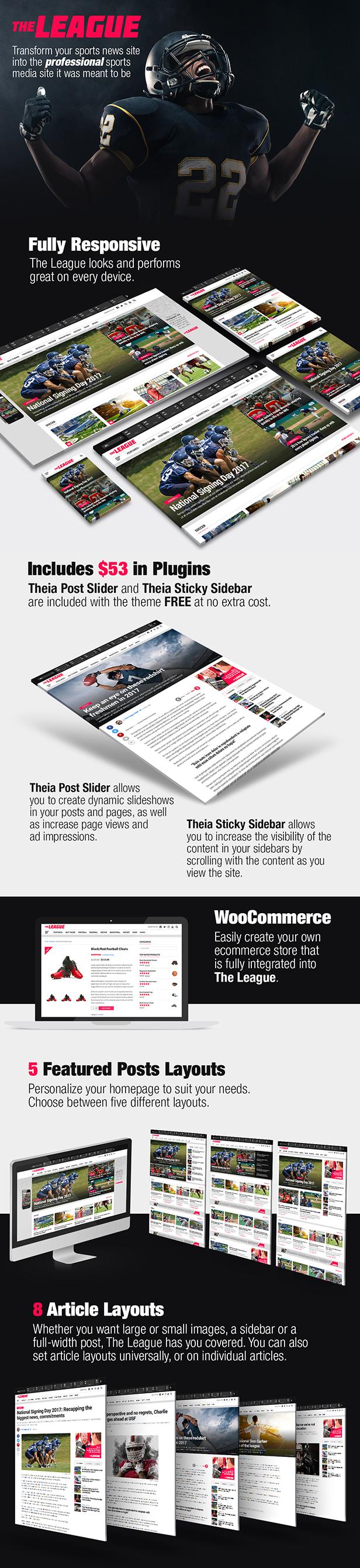 The League - Sports News & Magazine WordPress Theme - 2